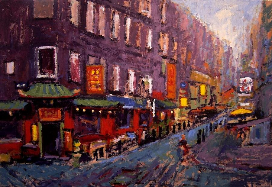 Tong ah restaurant painting by r w goetting for Diner painting