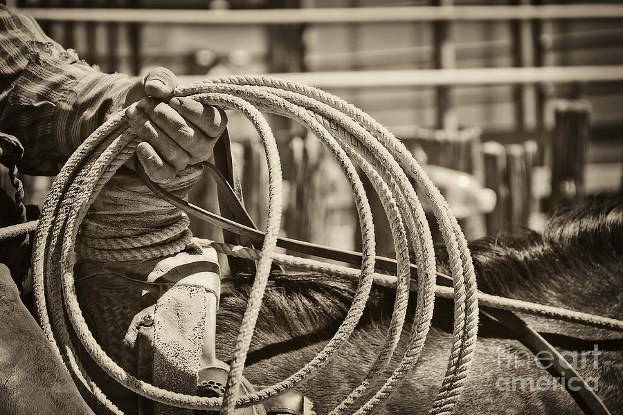 Cowboy Photograph - Tools Of The Trade At Work by Megan Chambers