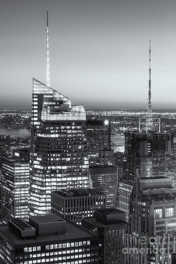 America Photograph - Top Of The Rock Twilight Vii by Clarence Holmes