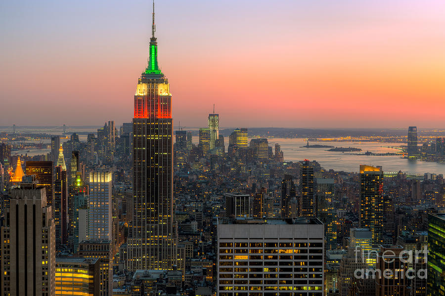 Clarence Holmes Photograph - Top Of The Rock Twilight X by Clarence Holmes