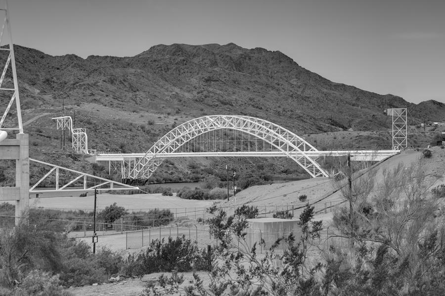 Trails Photograph - Topock Bridge by Ricky Barnard