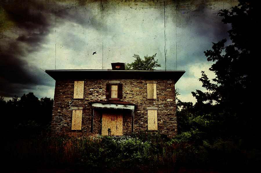 Abandoned House Photograph - Torn And Tattered by Emily Stauring
