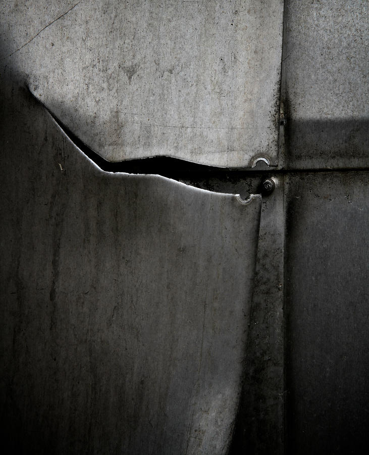 Metal Photograph - Torn Curtain by Odd Jeppesen