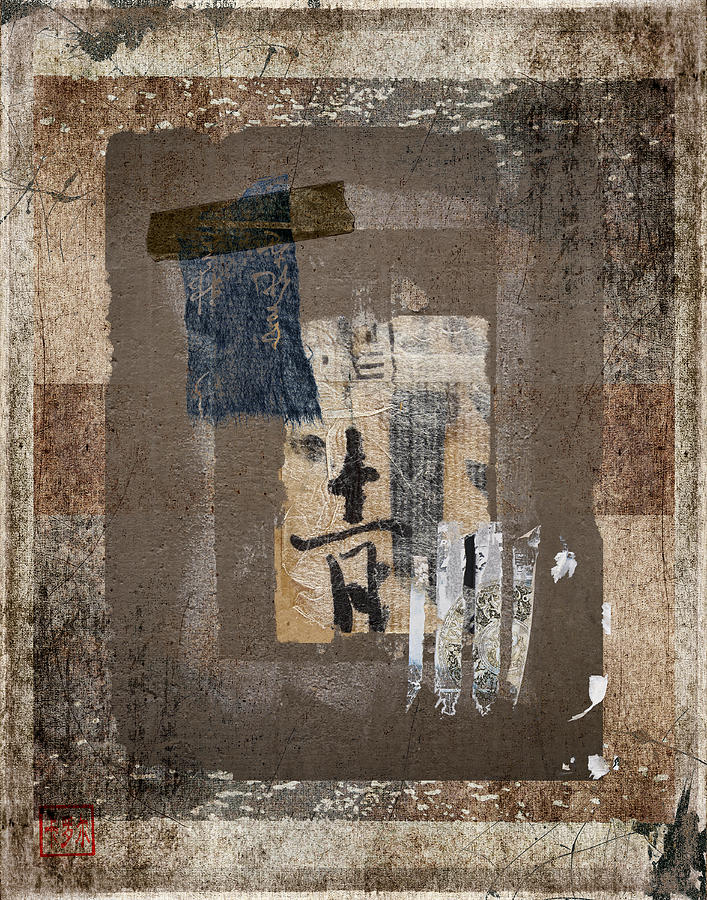 Torn Photograph - Torn Papers On Wall Number 3 by Carol Leigh