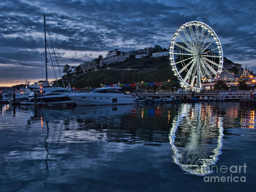 Torquay Photograph - Torquay Marina And The Big Wheel by Ann Garrett