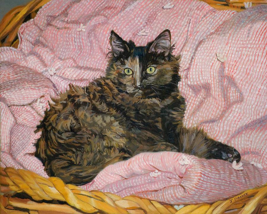 Tortoiseshell Cat Painting - Torti by Joanna Franke