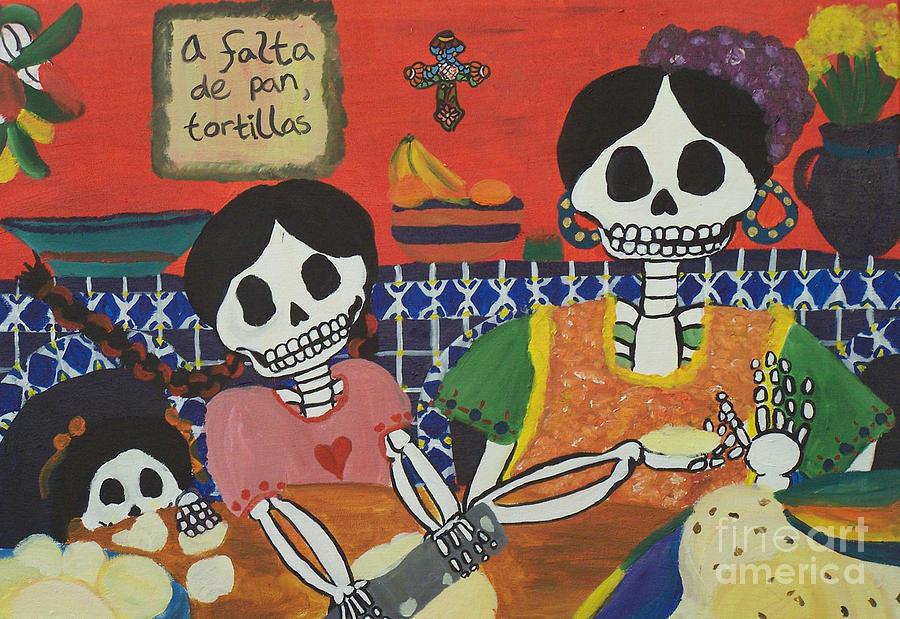Tortilla Painting - Tortillas by Sonia Orban-Price