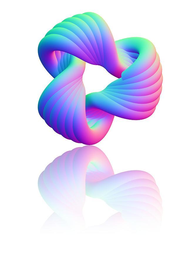 Torus Photograph - Torus Knot, Computer Artwork by Pasieka