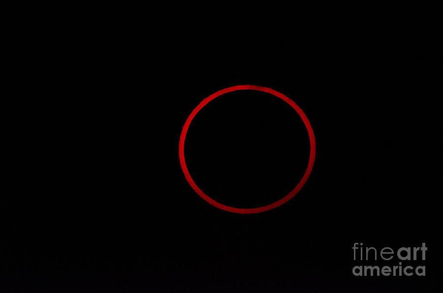 Natural Phenomenon Photograph - Totality During Annular Solar Eclipse by Phillip Jones