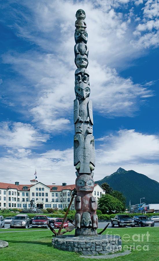 Totem Pole Sitka Alaska Photograph By Jim Chamberlain
