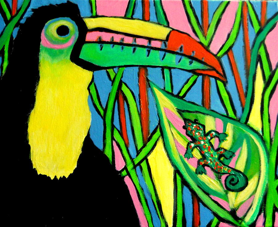 Toucan Ted Painting by Ted Hebbler