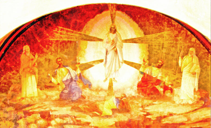 Jesus Ascension Painting - Touch Me Not by George Rossidis