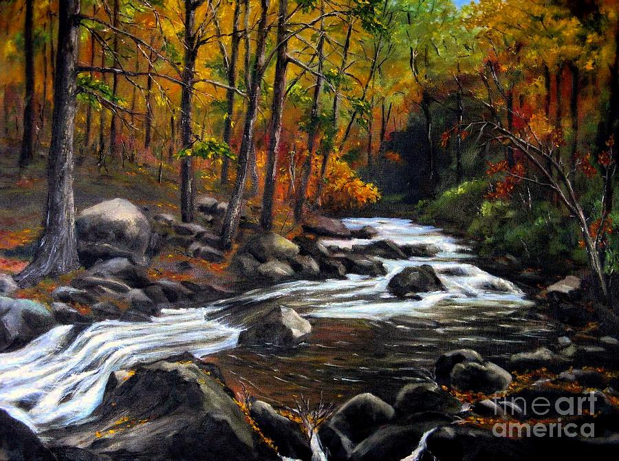Forrest Painting - Touch Of Fall by Ronald Tseng