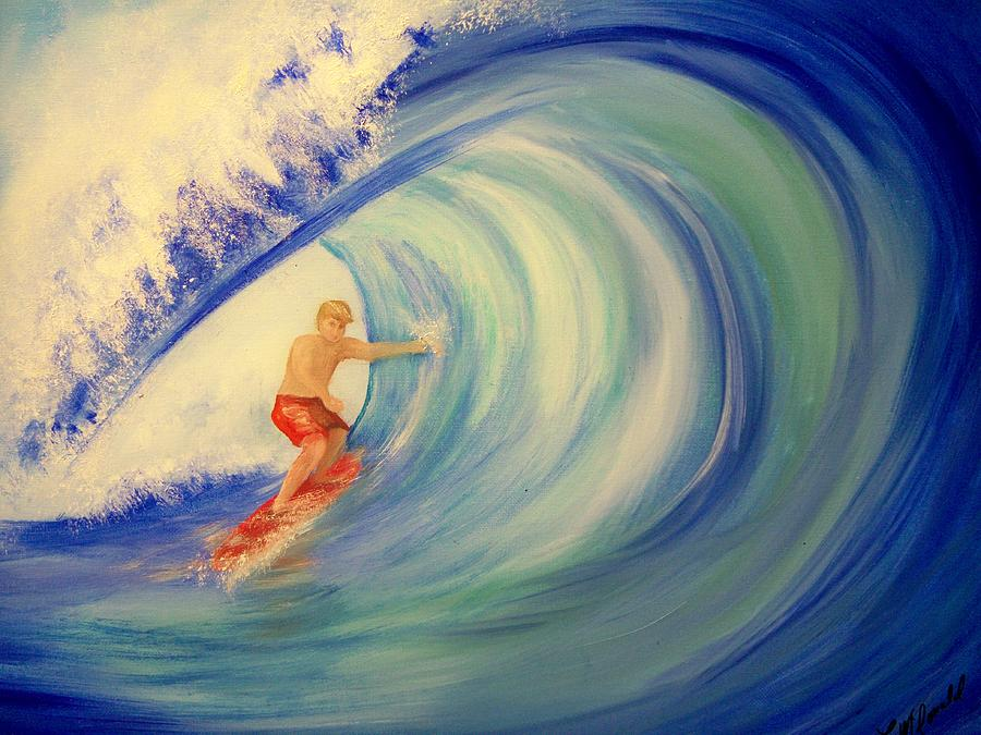 Touching The Wave Painting by Lynda McDonald