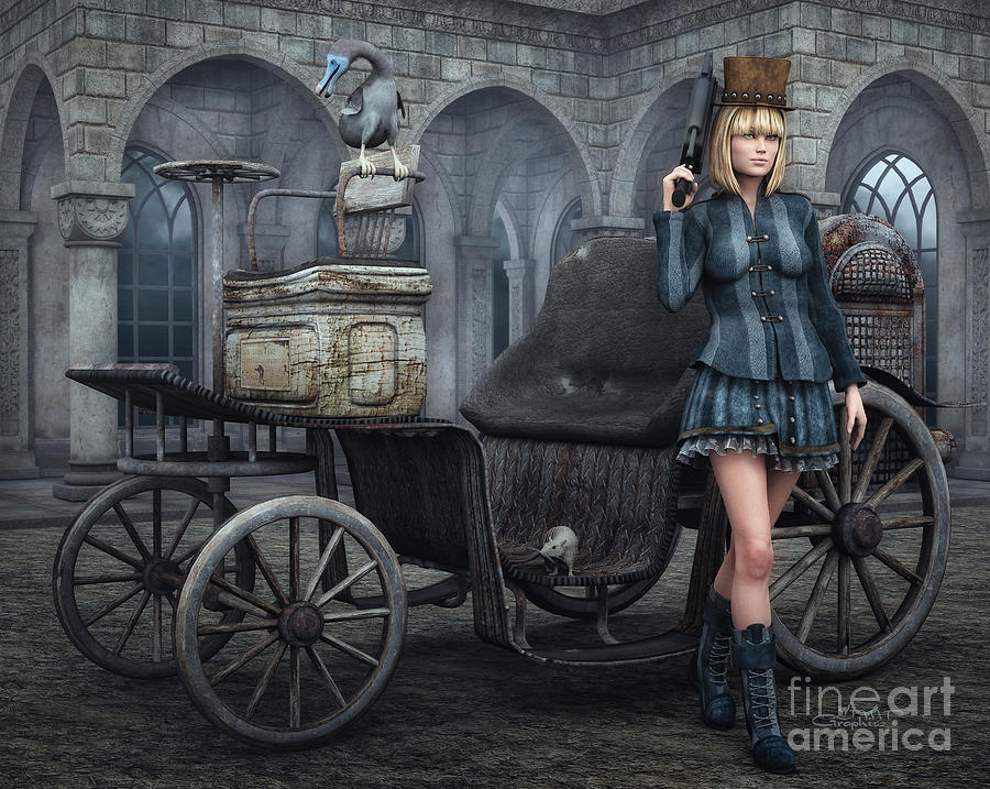 3d Digital Art - Tough Lady by Jutta Maria Pusl