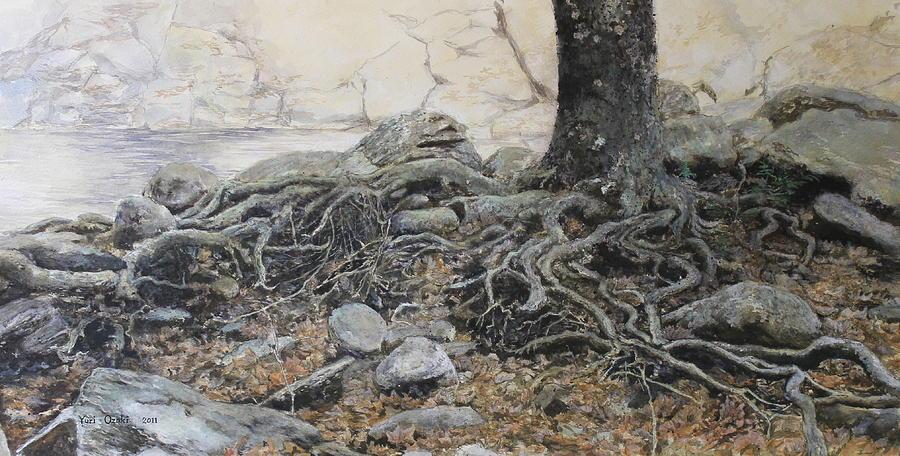 Tree Painting - Tough Tree by Yuri Ozaki