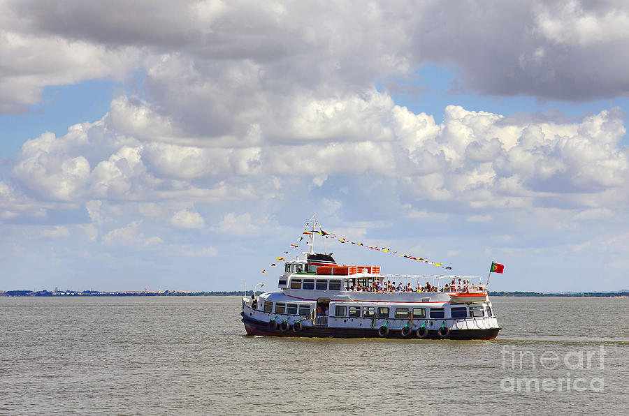 Blue Photograph - Touring Boat by Carlos Caetano