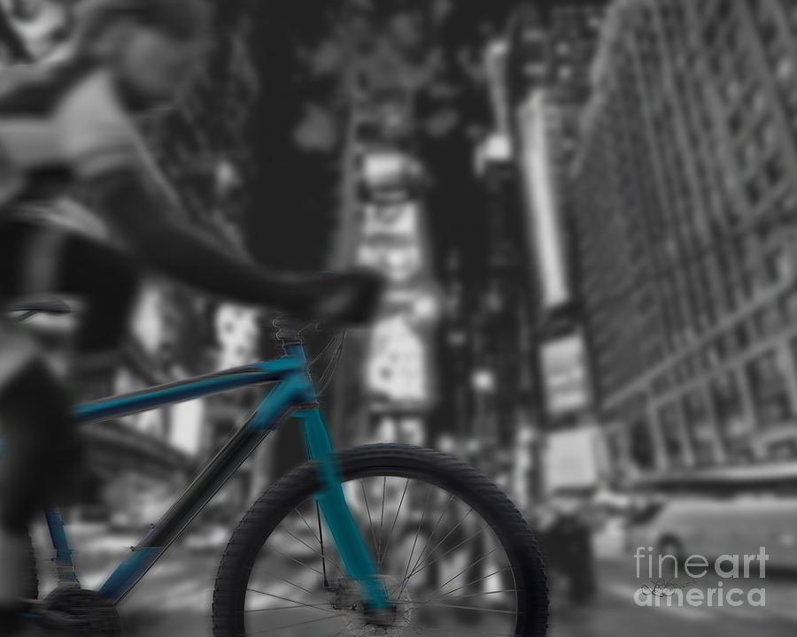 Bike Digital Art - Touring The City by Linda Seacord