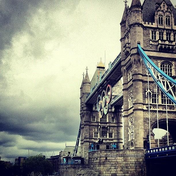 Clouds Photograph - Tower Bridge 2012 by Samuel Gunnell