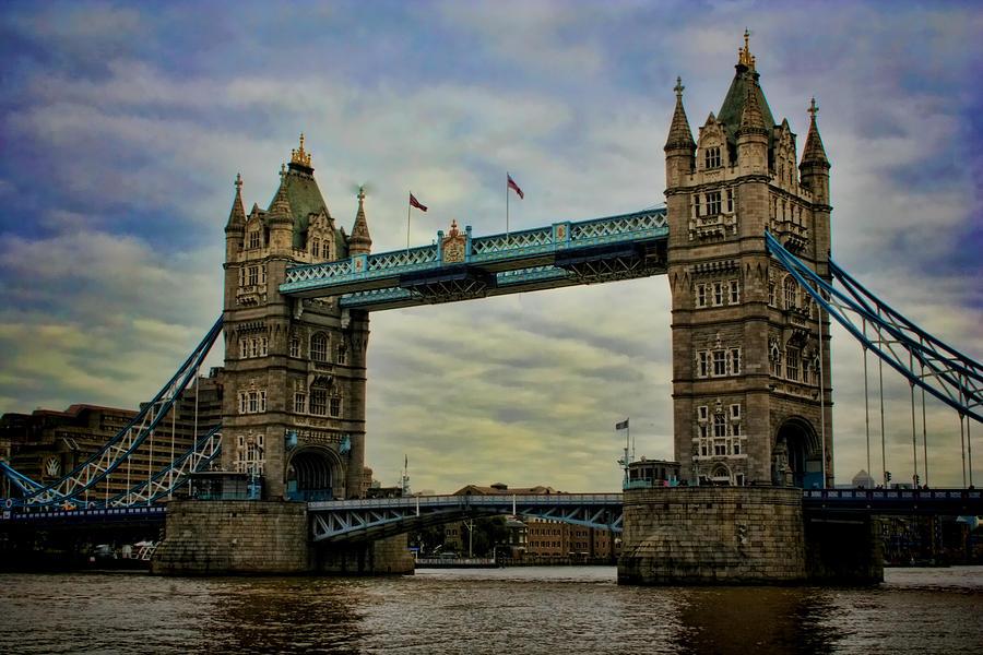 Tower Bridge Photograph - Tower Bridge London by Heather Applegate