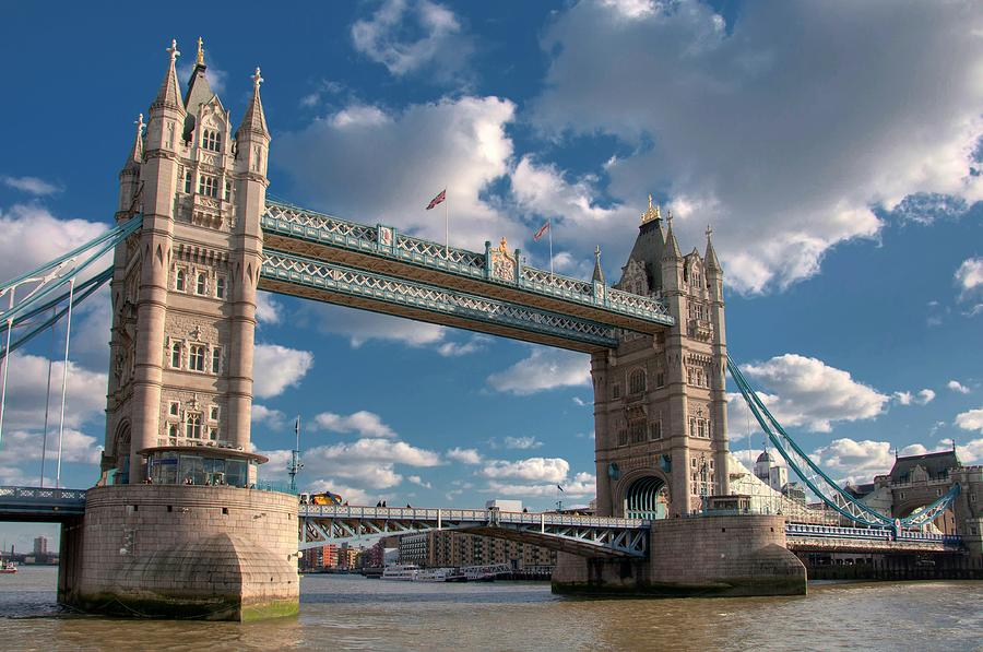 Horizontal Photograph - Tower Bridge by Paul Biris
