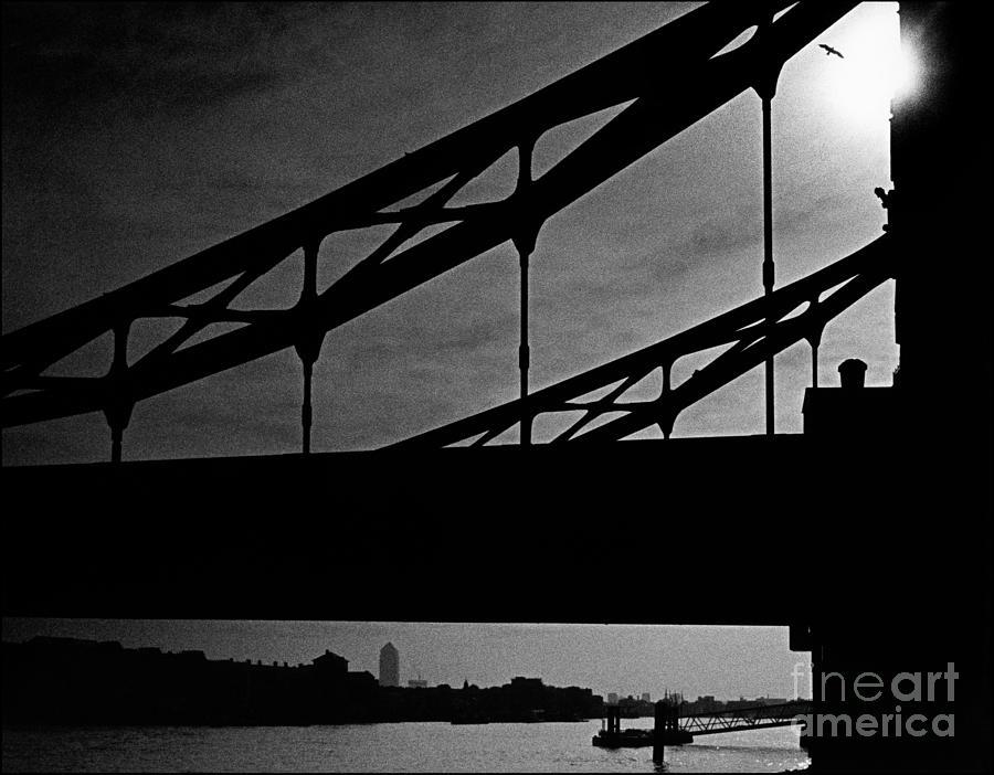 Silhouette Photograph - Tower Bridge Silhouette by Aldo Cervato