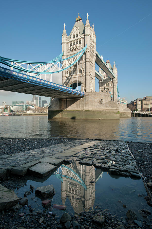 Vertical Photograph - Tower Bridge2 by Johnnie Pakington