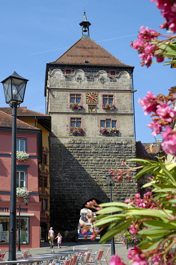 Medieval Photograph - Tower In Old Town Rottweil Germany by Matthias Hauser