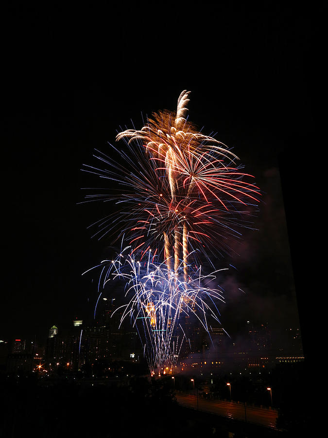 Fireworks Photograph - Tower Of Fire Power by Heidi Hermes