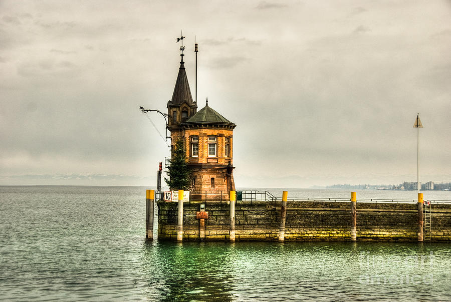 Tower Photograph - Tower On Lake by Syed Aqueel