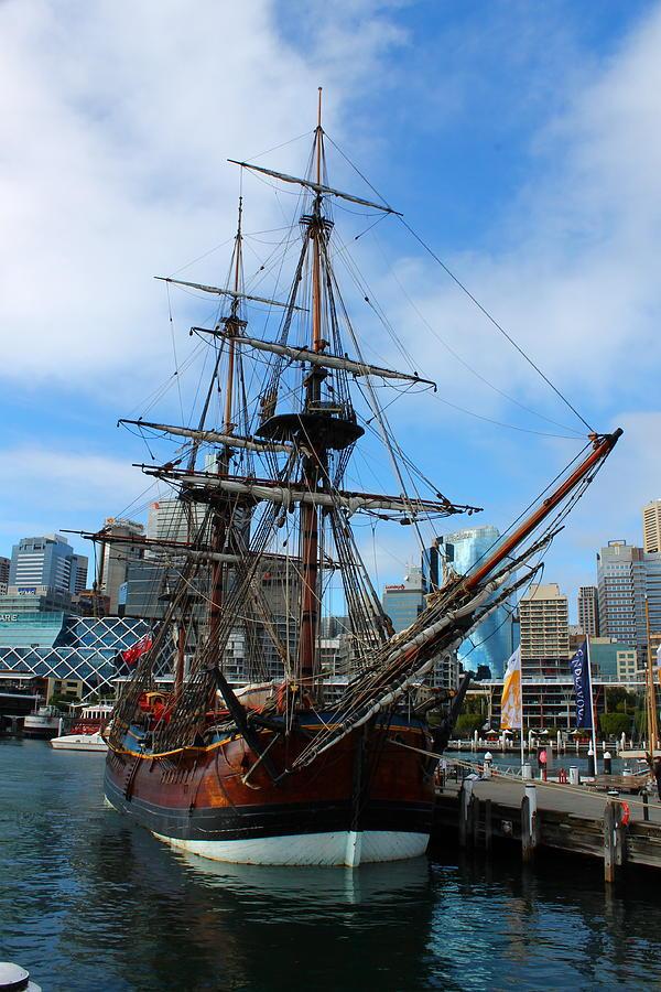Ship Photograph - Towering Ship by Harlan Fijal-Campbell