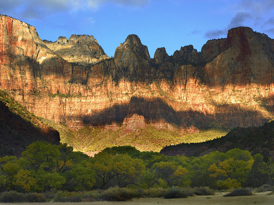 Towers Of The Virgin With Cloud Shadows Photograph by Tim Fitzharris