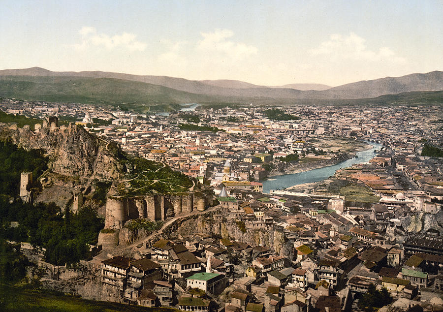 Georgia Photograph - Town Fortress In Tbilisi - Georgia by International  Images
