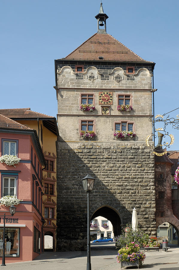 City Gate Photograph - Town Gate Schwarzes Tor In Rottweil Germany by Matthias Hauser