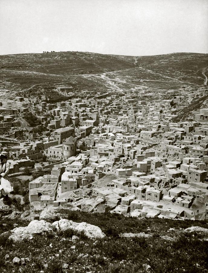 1920s Photograph - Town Of Es Salt, Ancient Jabesh-gilead by Everett