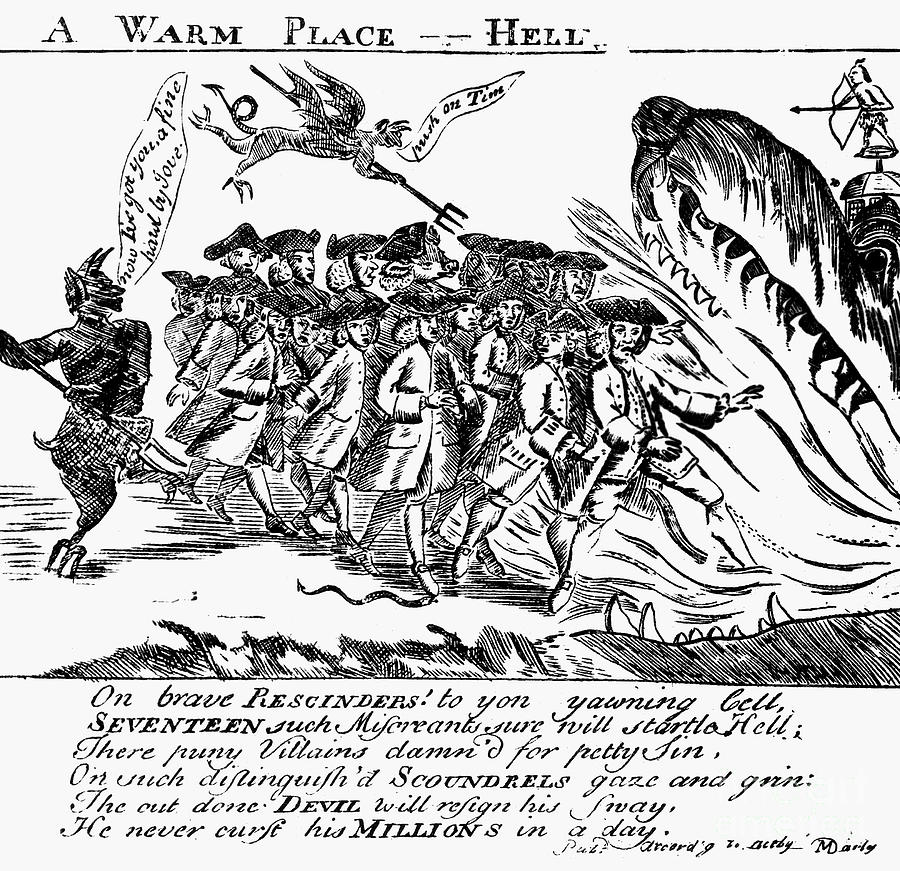 1767 Photograph - Townsend Act Cartoon, 1768 by Granger