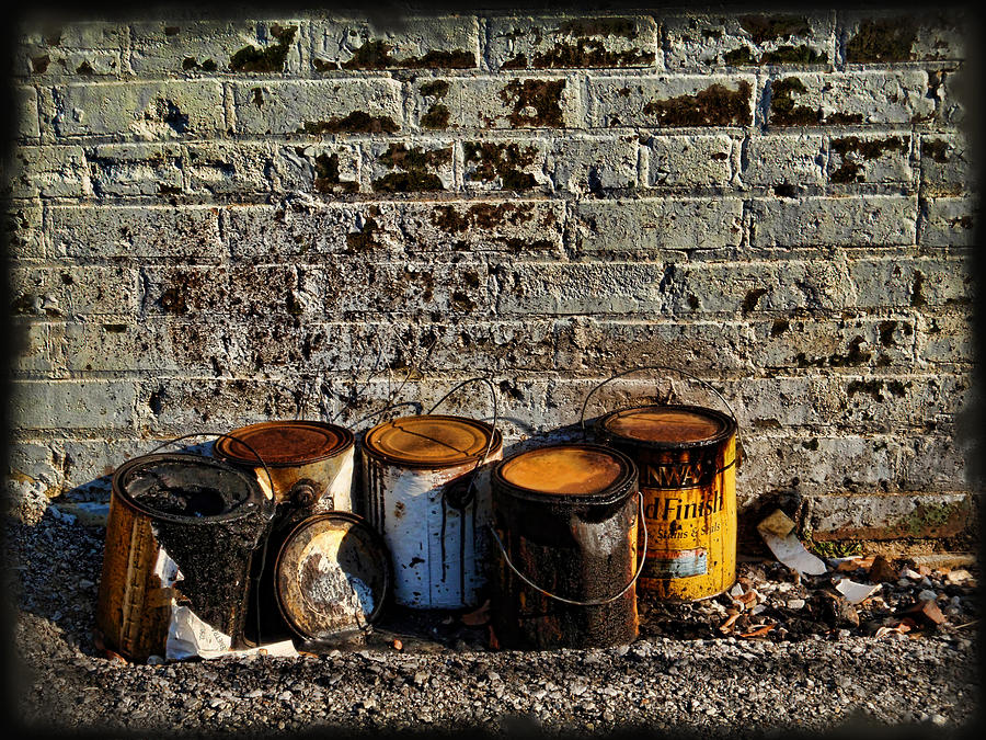 Alley Photograph - Toxic Alley Grunge Art by Kathy Clark