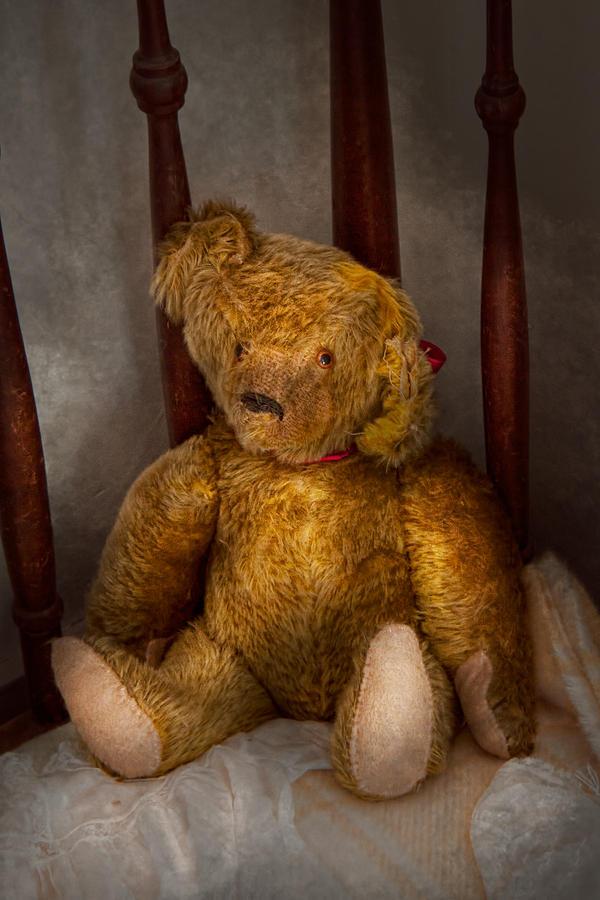 Children Photograph - Toy - Teddy Bear - My Teddy Bear  by Mike Savad