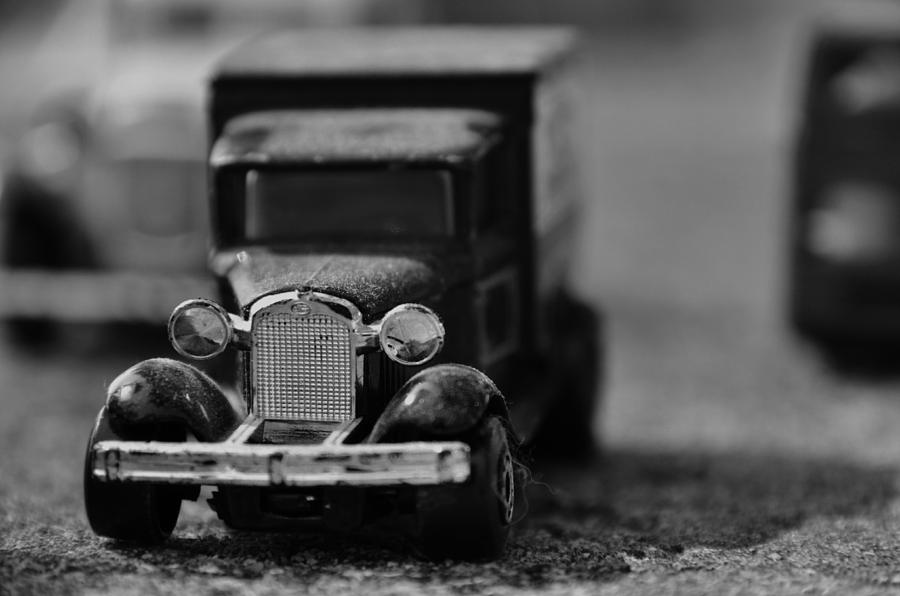 Black And White Photograph - Toy Car by Emma Quedzuweit