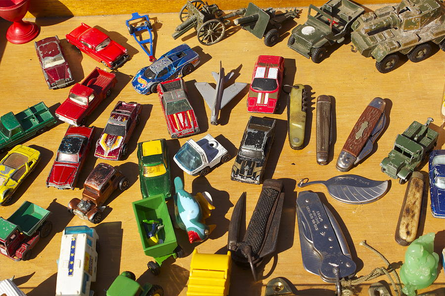 Toys.cars. Knives. Colors. Boys Room. Photograph - Toy Cars by Michael Clarke JP
