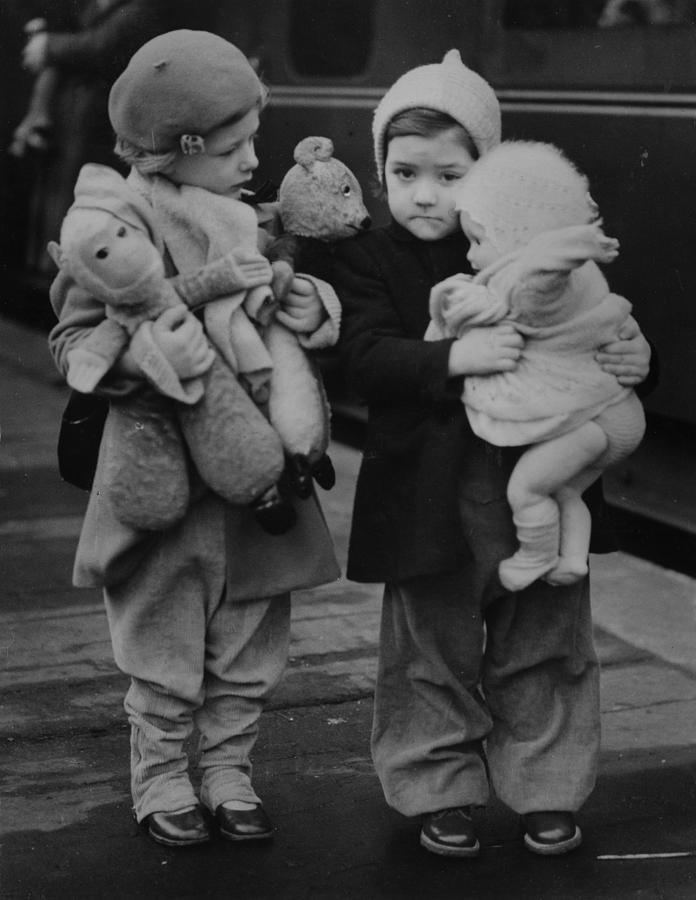 Child Photograph - Toy Luggage by Keystone