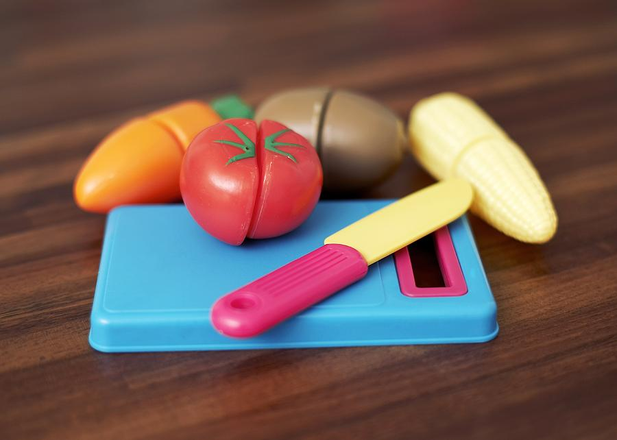 Toy Photograph - Toy Vegetable Chopping Board by Ian Boddy
