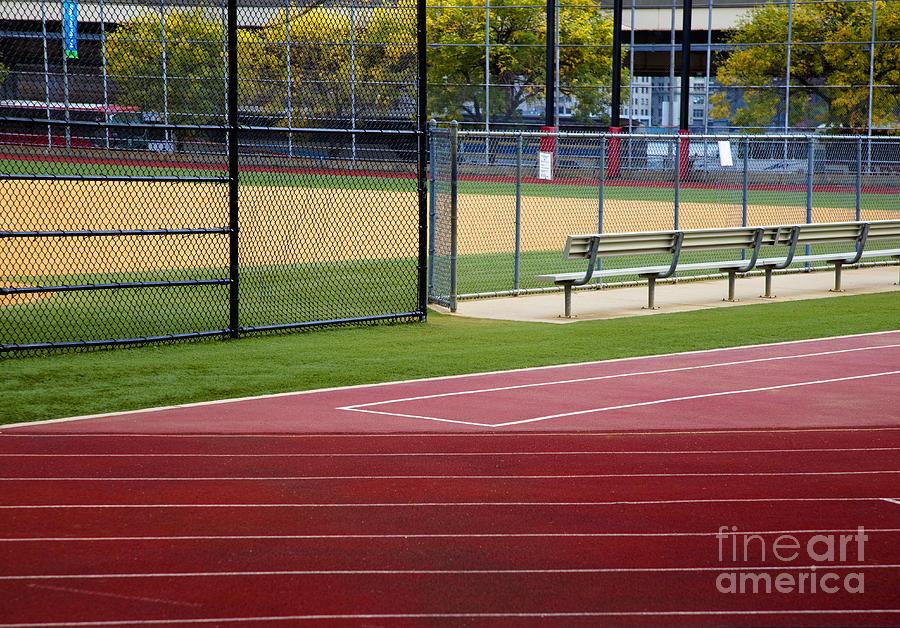 Athletics Photograph - Track And Baseball Diamond by Inti St. Clair