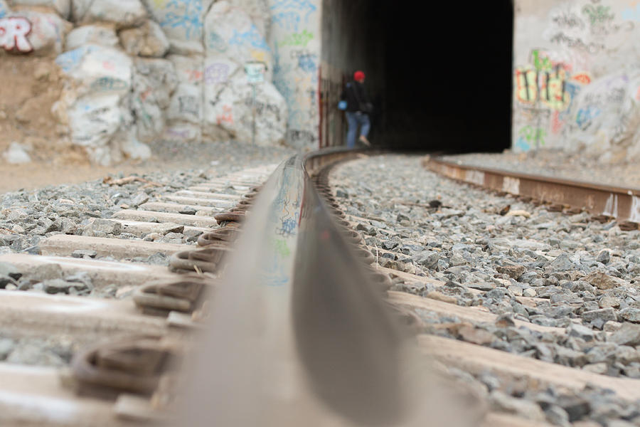 Train Photograph - Track Low Down by Denice Breaux