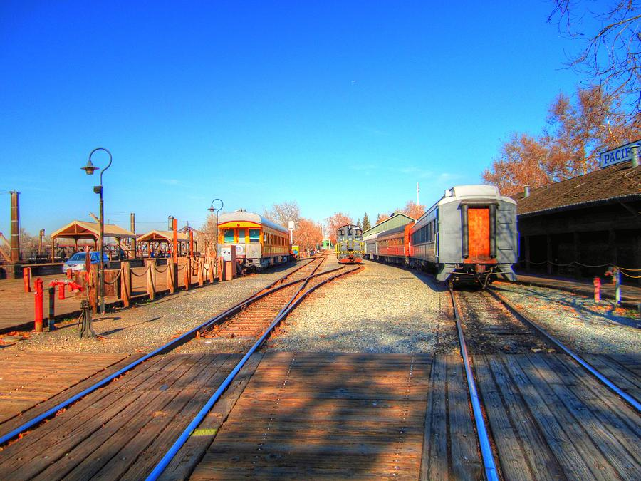 Old Town Sacramento Photograph - Tracks Along The River-hdr by Barry Jones