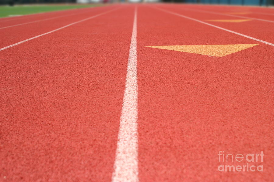 Athletic Photograph - Tracks by Henrik Lehnerer