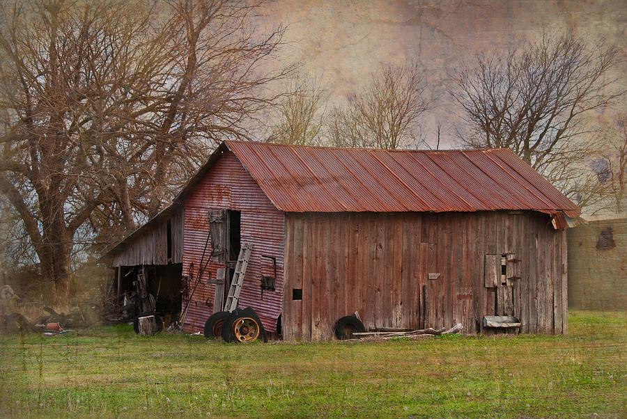 Barns Photograph - Tractor Barn by Lisa Moore