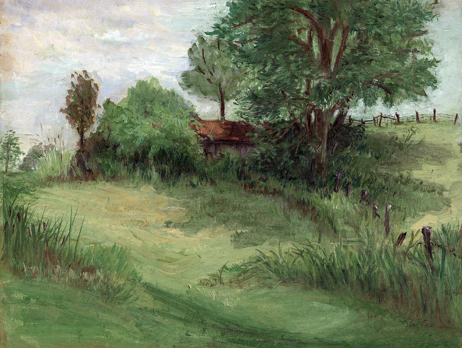 Landscape Painting - Tractor Shed by Ethel Vrana