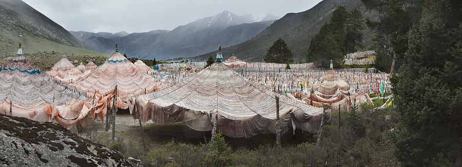 Spirituality Photograph - Traditional Buddhist Prayer Flags by Phil Borges