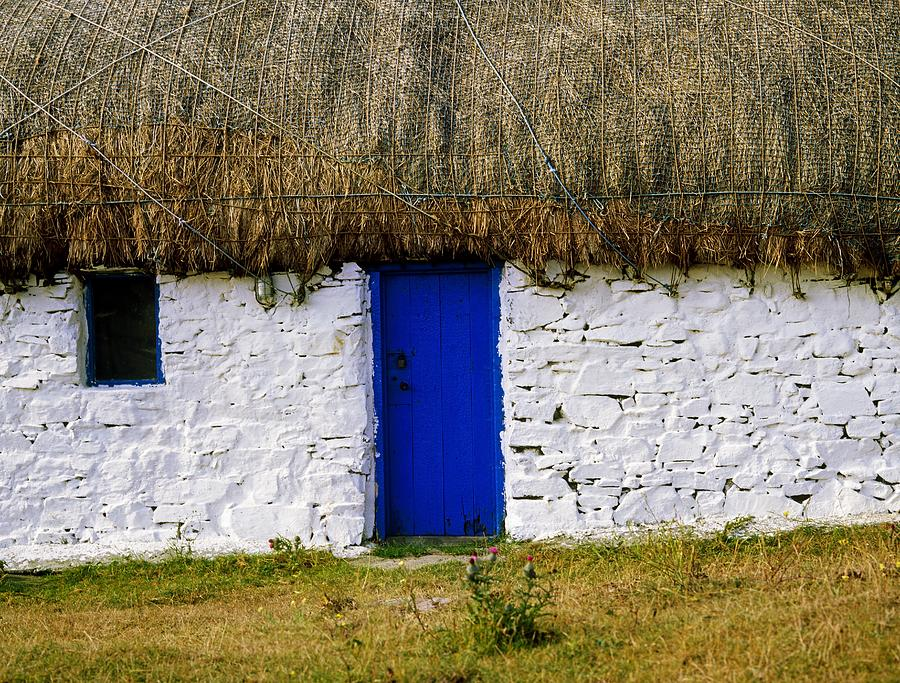 Building Photograph - Traditional Cottages, Co Galway, Ireland by The Irish Image Collection